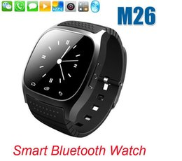Wholesale Led Display Cameras - Smart Bluetooth Watch Smartwatch M26 with LED Display Barometer Alitmeter Music Player Pedometer for Android IOS Mobile Phone with retail
