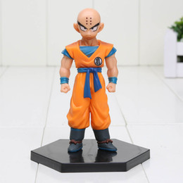 Wholesale Doll Scale - 11cm Anime Dragon Ball Z Krillin Action Figure 1 8 scale painted figure Kuririn Doll PVC ACGN figure toys