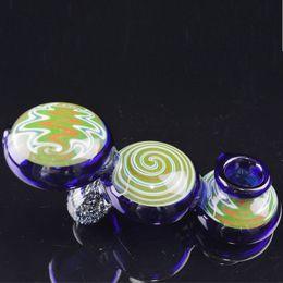sigarette colorate Sconti Tubi di fumo in vetro colorato da 5 pollici Tubi di bruciatore di olio elegante per sigarette di tabacco Tubi Dab inebrianti più recenti Tubi di colore blu
