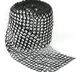 10 verges 12 Diamètre Bendable Diamant Maille Wrap Rouleau Étincelle Strass Cristal Ruban Pour Mariage Artisanat Cadeau Partie Arc Décoration ? partir de fabricateur