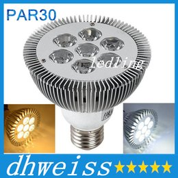 Wholesale E27 7x3w - DHL Dimmable 21W  7x3W E27 Par30 LED Bulb lamp 85-265V Warm White white LED spot light, Par 30 E27 led lighting MYY11251A+CE ROHS