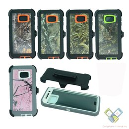 Wholesale Iphone Armor Series Case - Robot Hybrid Rugged Armor Defender Series Cases with Realtree Camo Holster Belt Clip Back Cover for Iphone 8 7 6s plus Samsung Galaxy S8 7 6