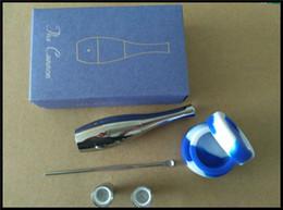 Cera de orbe on-line-Cilindro de quartzo cera vaporizador ego cera atomizador tanque orb fonte v3 cigarro eletrônico canhão atomizador set com dab ferramenta