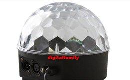 Wholesale Dmx512 Control Dmx - LED Channel DMX512 Control Digital LED RGB Crystal Magic Ball Effect Light DMX Disco DJ Stage party Lighting Free Shipping