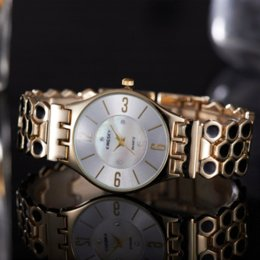 Wholesale Dropship Best Selling - car Best-Selling Fashion Casual Gold Full Steel Quartz Watch Alloy Case Analog Ladies Wristwatch Relogio Feminino Da China Dropship