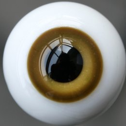Wholesale Bjd Eyes 14mm - Wholesale-[wamami] 14mm SaddleBrown & Tan For BJD DOD AOD Doll Dollfie Glass Eyes Outfit