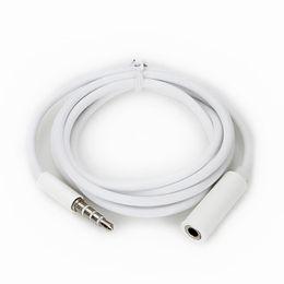 música feminina Desconto Jack 3.5mm cabo de extensão de áudio macho para fêmea para macho aux cabo para iphone samsung mp3 player de música no carro branco dhl cab234
