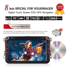 "Wholesale Dvd For Vw Jetta - 8"" 2 Din Android 4.4.4 Car DVD Player For VW Passat B6 B7 Passat CC Jetta Polo 3G Wifi Bluetooth GPS Navigation Free 8GB Card CDVD0010"