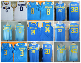 Wholesale Ucla Bruins - New Arrive Men 2017-2018 UCLA #3 Josh Rosen #8 Troy Aikman #1 #18 Blue White Stitched Bruins College Football Jerseys Cheap