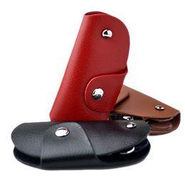 Wholesale Wrap Wallet - Wholesale-Free shipping!3color 100% genuine leather women men's wrap door or car keys chain holder case KK6