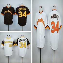 Wholesale Top Quality Top Sale San Diego Padres Throwback Jerseys Rollie Fingers Jerseys Camo Double Stithed Original Baseball Jerseys Shirts