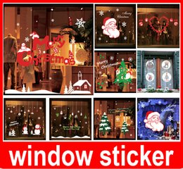 Wholesale Xmas Window Stickers - Removable Merry Christmas Xmas Decor Snowflakes Ring Art Vinyl Stickers Wall Windows Decal Decoration Wallpaper Free Shipping,dandys