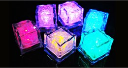 Wholesale Led Bar Ice Cubes - 300pcs Christmas Decoration Flash Ice Cube WaterActived Flash Led Light Put Into Water Drink Flash Automatically for Party Wedding Bars