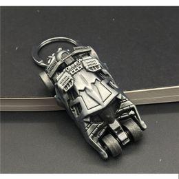 Wholesale Cartoon J - J Store Movie The Dark Knight Batman Car 3D Model Batmobile Keychain Batman Superman Keyring for Women Men llaveros Jewelry
