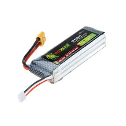 Wholesale Powered Model Cars - Lion Power RC Model Toy Lipo Battery 11.1V 2200Mah 30C 45C w  XT60 Plug for Align TREX 450 Helicopter RC Airplane Car order<$18no track