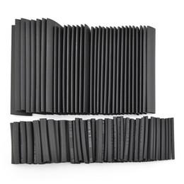 Canada Noir 150pcs 8 tailles Assortiment Thermorétractable Tube Rétrécissable 1.0-13.0mm Gaine Wrap Fil Kit supplier black heat shrink tube Offre