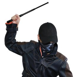 Wholesale Dog Cosplay - Watch Dogs Aiden Pearce Face MASK CAP Hat Stick Set Costume Cosplay Mask + Hat+Stick Free Shipping