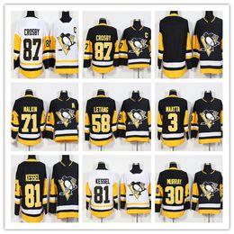 Wholesale cheap crosby jerseys - 2018 Men's New 87 Sidney Crosby 81 Phil Kessel 71 Evgeni Malkin 30 Murray 66 Lemieux 59 Guentzel Pittsburgh Penguins Hockey Jerseys Cheap