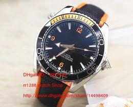 Wholesale Ocean Day - Men watch Planet Ocean 600M Men's Mechanical Watch Men Chronometer Co Calendar Axial Mens Professional AAA Rubber Band Watches