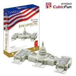 Wholesale 3d Puzzle Cubicfun - Wholesale-Solid genuine music CubicFun 3D puzzle pepar model MC074h the United States Government Building The Capitol Hill