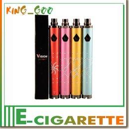 Wholesale Ego Diamond Battery Dhl - diamond v ision spinner 2 battery 1650mah battery e cigarette battery 3.3v-4.8v variable voltage for ego 510 min protank 3 VIA DHL (0204108)