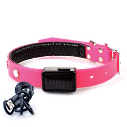 Wholesale Rechargeable Lighted Dog Collars - USB Rechargeable Pet Collar LED Flashing Adjustable Safety Dog Pet Collar Light With USB Charger More Colors Retail Sale