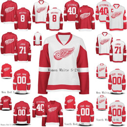 Wholesale Womens Wings - Mens Womens Youth Detroit Red Wings 72 Andreas Athanasiou 71 Dylan Larkin 8 Justin Abdelkader 40 Henrik Zetterberg Custom Hockey Jerseys