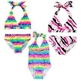 Wholesale Girl Surfing Suit - Wholesale- 2017 Girls Sleeveless 1Color Swimsuit Bathing Swimming Suit Swimwear Swimsuit Beach Surf Clothing Sz3-12Y