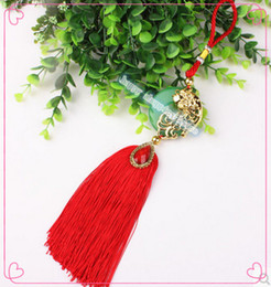 Wholesale Jade Car Ornament - 3pcs Free shipping for home decoration and gifts Luxury car accessories wholesale special character China knot ornaments jade pendant
