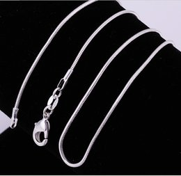 Wholesale Fine China Wholesale - Silver Plated Snake Chain Necklace, 1mm * 16 18 20 22 24 26 28 30 inch Fine Tiny Chains, 100pcs lot Factory Wholesale