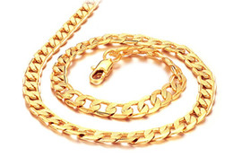 """Wholesale Heavy Gold Plated Fill - Wholesale - NEW sun Heavy 40G Classic men women 18k solid gold GF necklace chain 23.6"""""""