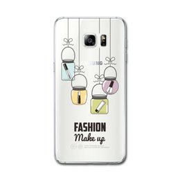 Wholesale Transparent Soft Glass - Unique Cute glass bottles cosmetics Clear Transparent Soft Silicon Phone Case Back Cover for samsung Galaxy s8plus TPU Carcasa shell
