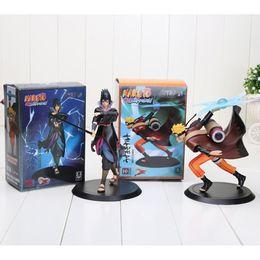 Wholesale Naruto Uzumaki Shippuden - Naruto Shippuden Uchiha Sasuke + Uzumaki Naruto PVC Action Figure Model Toy Hot Sale