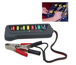 Wholesale Diagnostic Leads - Tirol 12V LED Digital Car Battery Tester Alternator Tester 6LED Lights Display Indicates Condition Diagnostic Tool H1246