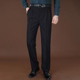 Wholesale Winter Mens Fashion Dress Coats - Wholesale-Mens Pants Suit Big Size 42 44 Autumn Winter Wool And Silk Thick Dress Pants For Men Fashion Classical Trousers Work Pants Coat