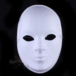 Wholesale Venice Free - Paper Pulp Plain White Blank Venice Masks Full Face DIY Fine Art Painting Programs Masquerade Party Mask 10pcs lot Free shipping