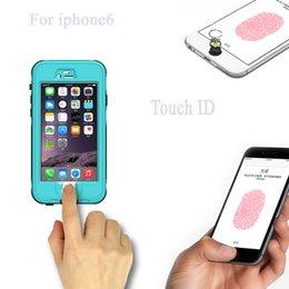 Wholesale Iphone Waterproof Version - Waterproof case Shockproof Fingerprint version case for Iphone 6 iphone 6 plus in Retail Package