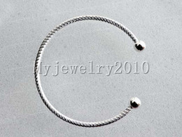 Wholesale Bracelet Screw Ends - Wholesale 10pcs lot Silver Ending Ball Screw Buckle CHARM BRACELET BANGLE FIT Big HOLE European BEADS DIA. 65mm Thick 3mm Jewelry Findings