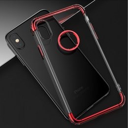 Wholesale Wholesale Clear Color Case - New cell phone case 3 piece Hybrid Air Ultra Slim Shock Proof soft liquid TPU Case Cover for iPhone X 6S 7 8 plus with plated color frame