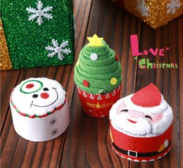 Wholesale Towel Cake Designs - 2017 Creative design cake towel Cute Christmas gifts universal skin-friendly coton absorbent handmade doll small presents modeling towels