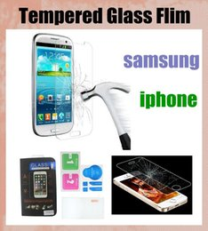 Wholesale Galaxy S3 Protection - 9h 2.5d glass screen protector tempered glass screen film protection for iphone4s 5s iphone6+ samsung s3 s4 s5 s6 edge galaxy note SSC046