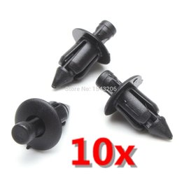 Wholesale Fairings For Yamaha - 10x 6mm Plastic Rivet Fairing Trim Panel Fastener Clips For Honda For Yamaha For Suzuki order<$18no track