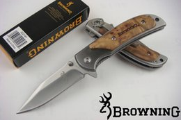 Wholesale Wholesale Wood Small Box - Factory direct Small size 338 Survival Pocket folding knife EDC knife knives with original paper box packing
