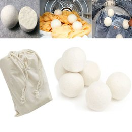 6pcs Lot Wool Dryer Balls Reduce Wrinkles Reusable Natural Fabric Softener Anti Static Large Felted Organic Wool Clothes Dryer Ball WX9-189