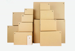 Wholesale Paper Packaging Products - 13*8*9cm Kraft Paper Packaging Box For Cosmetic  Cloth Househould Products Shoes.