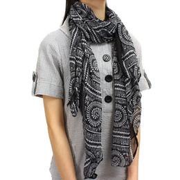 Wholesale Large Circle Scarves - New Fashion Bohemian Women Scarves Long Circle Plaid Print Wrap Ladies Cotton Shawl Girl Large Pretty Winter Warm Scarf