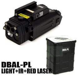 2019 linterna sf Nueva linterna táctica LED de luz blanca DBAL-PL con puntero láser rojo e iluminador IR negro