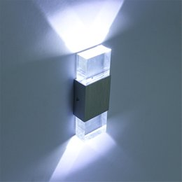 2019 spiegeln flure 220 V Moderne 4 Watt led wandleuchte badezimmer licht hochwertigen Aluminiumgehäuse, Acryl Kristall Wandleuchte schlafzimmer wohnzimmer haus wand