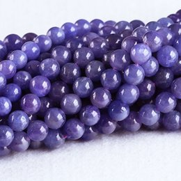 Wholesale Purple Gemstone Beads Loose - High Quality Natural Genuine Tanzania Tanzanite Dark Purple Blue Gemstone stones Round Loose Beads 7mm 8mm 05306