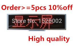 Wholesale Scrolling Led Screen - Wholesale-New arrival Open sign Red LED Desk Board Mulit-languages message scrolling display screen 16*64 Dots free shipping